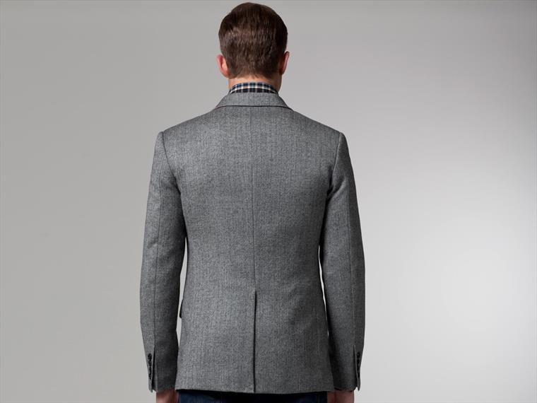 The Gasper Gray Herringbone Blazer 2