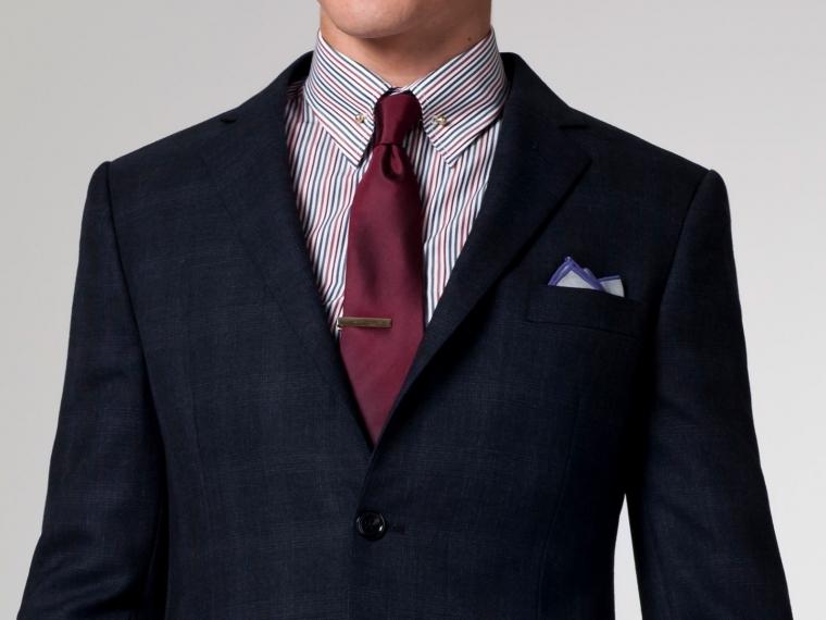 The Cakewalk Blue & Burgundy Plaid Suit