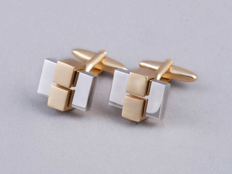 Deco Block Cufflinks 1