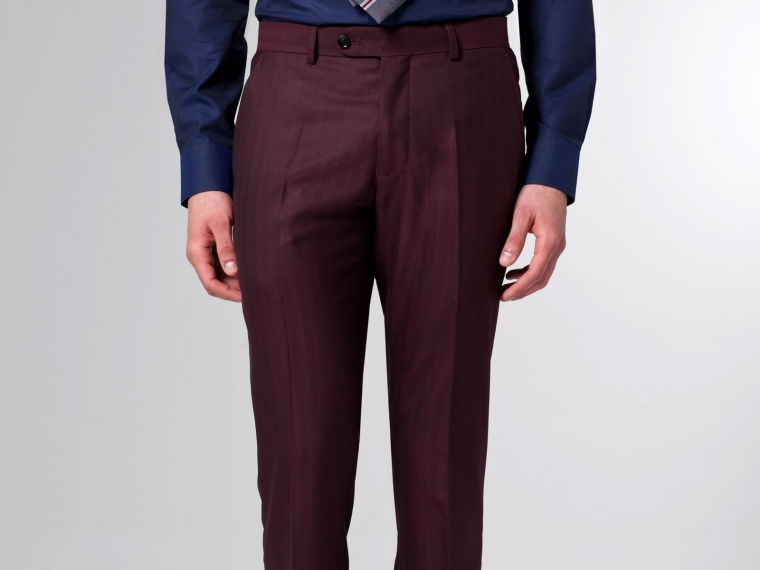 The Burgundy Herringbone Suit 4