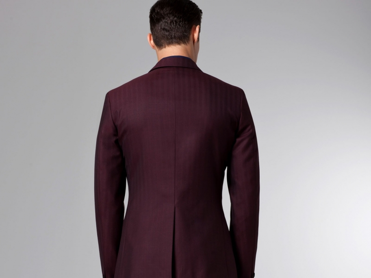 The Burgundy Herringbone Suit 2