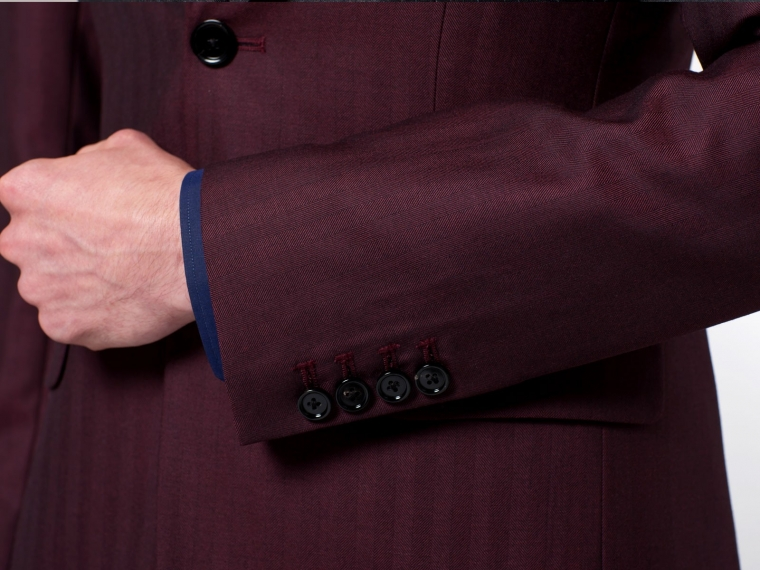 The Burgundy Herringbone Suit 3