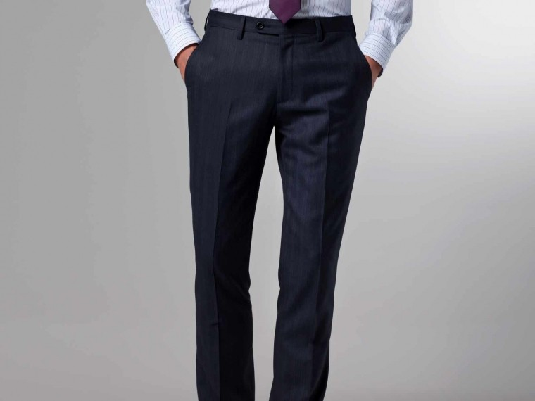 The Storm Indigo & Brown Pinstripe Suit 5