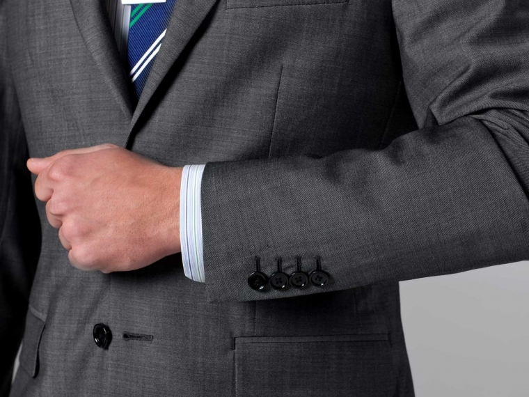 The Nanotech Storm Gray Twill Suit 4