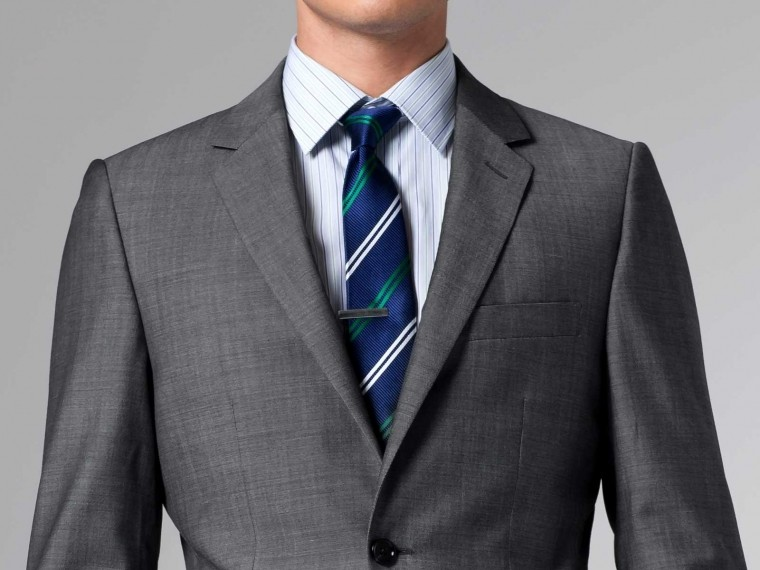 The Nanotech Storm Gray Twill Suit 1
