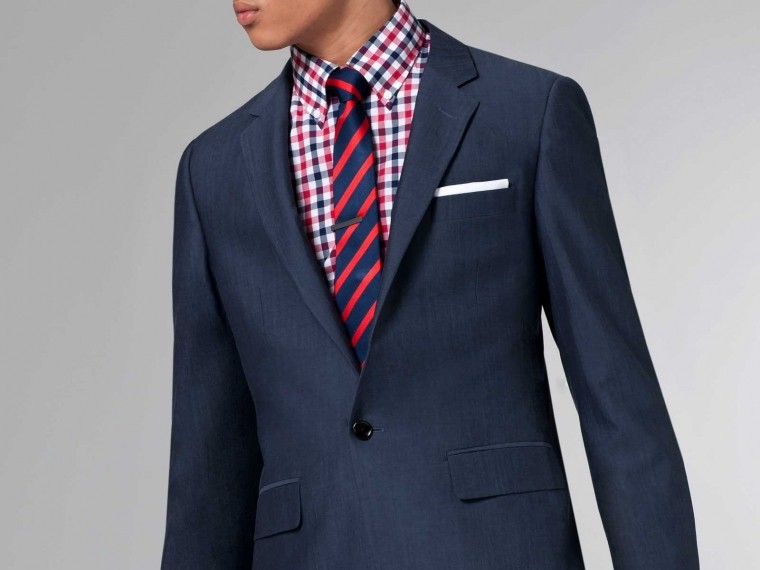 The Ultimate Slate Blue Cotton & Wool Suit 1