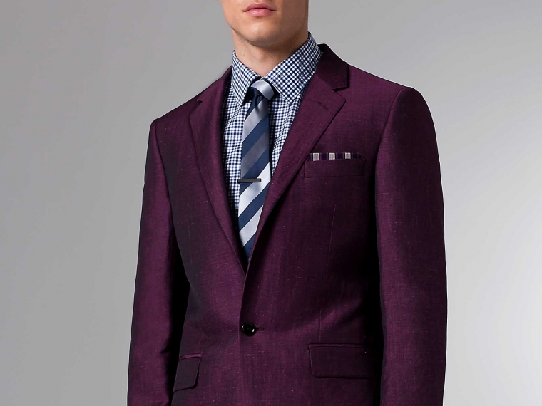 The Ultimate Summer Burgundy Linen & Wool Blazer