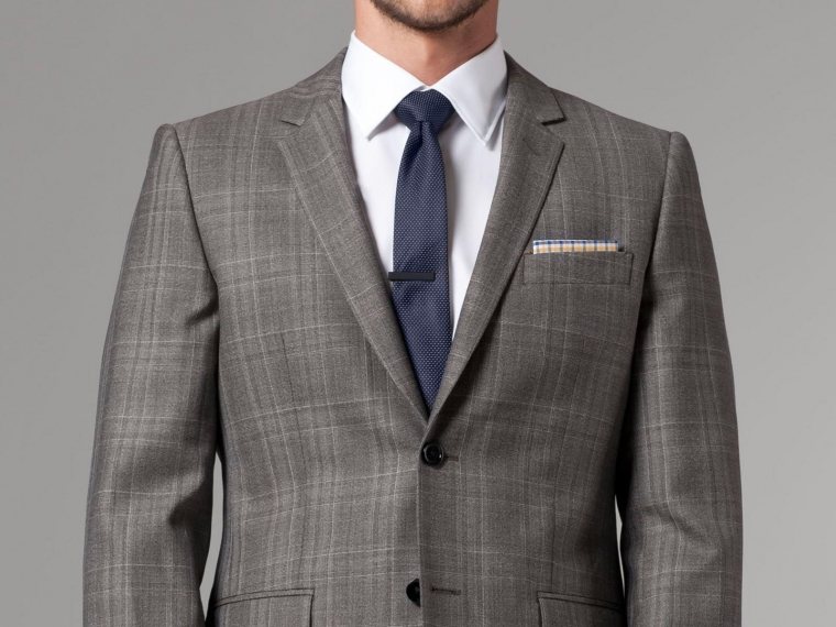 Nanotech Brown Plaid Suit 1