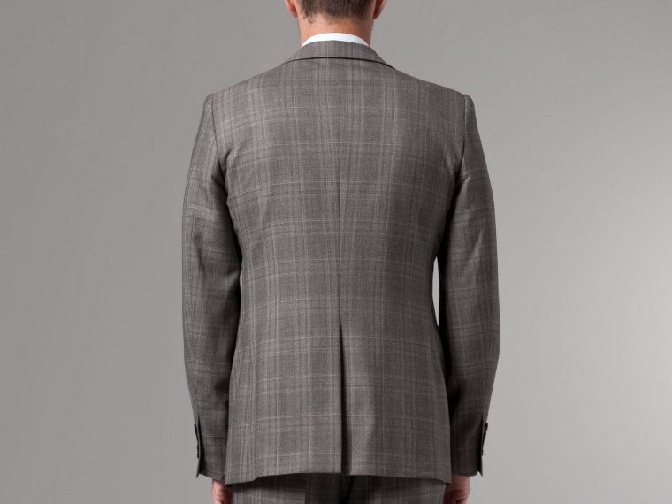 Nanotech Brown Plaid Suit 2