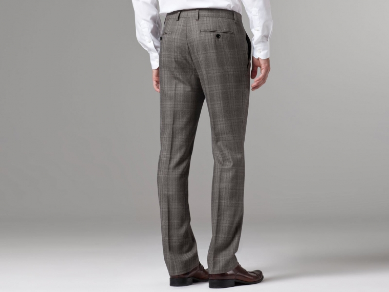 Nanotech Brown Plaid Suit 5
