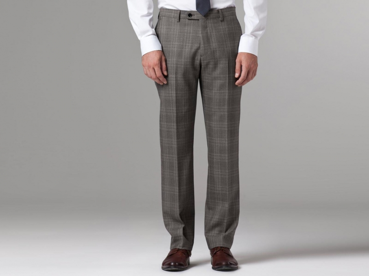 Nanotech Brown Plaid Suit 4