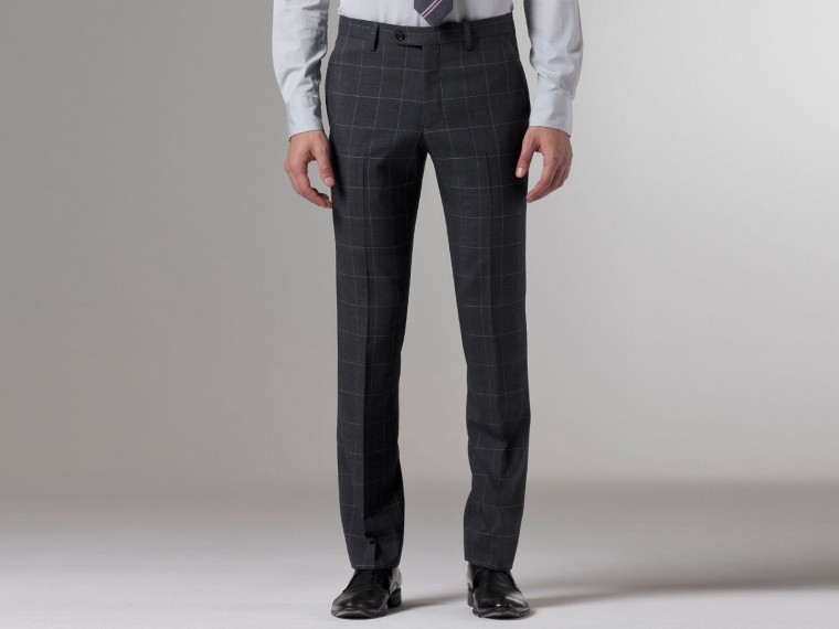 Premium Gray Prince of Wales Suit 5