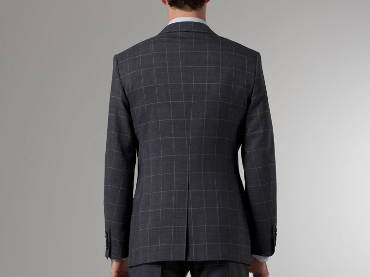 Premium Gray Prince of Wales Suit 2