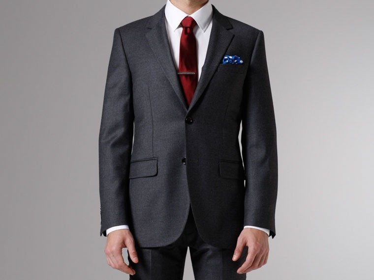 Gray Flannel Cashmere & Silk-Blend Wool Suit