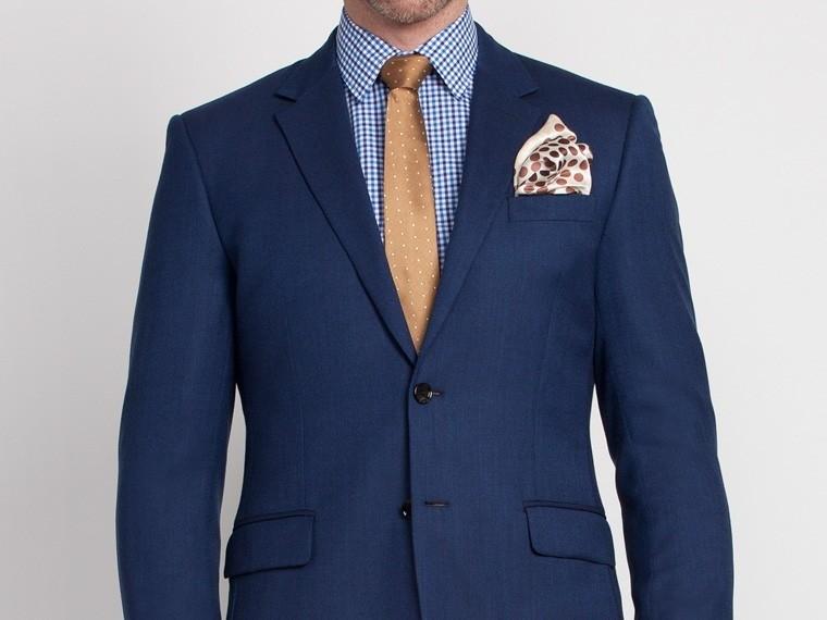 Cobalt Blue Birdseye Suit