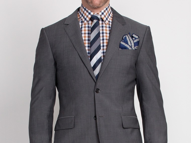 Slate Gray Sharkskin Suit