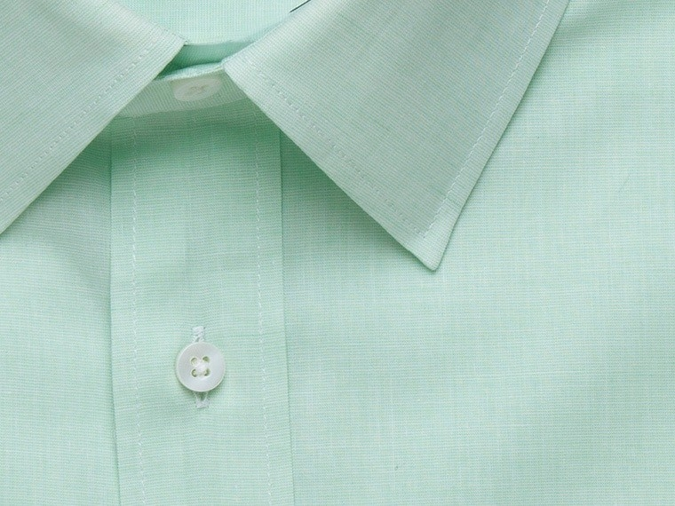 Celery Cross Weave Cotton-Blend Linen Shirt 2