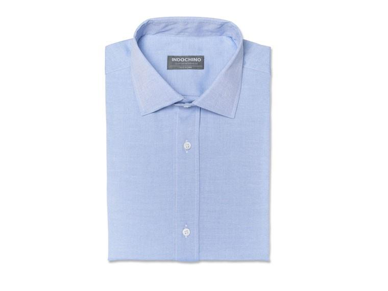 Blue Pinpoint Oxford Shirt 1