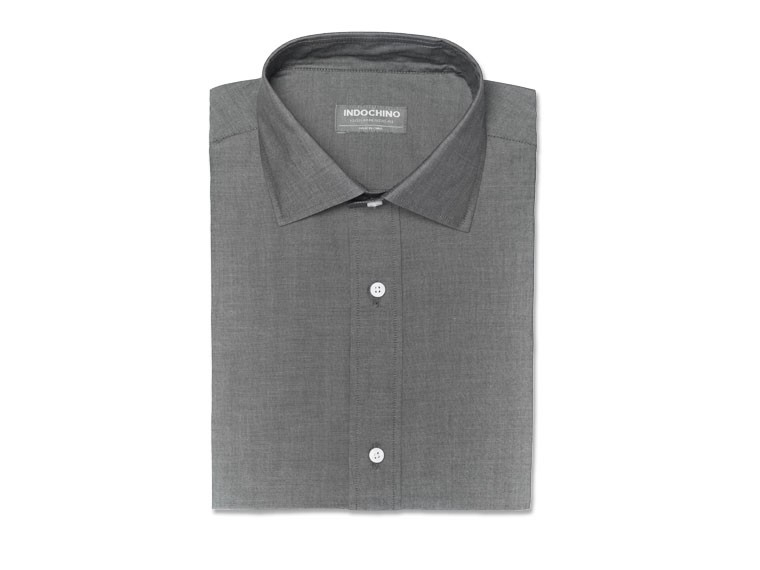 Charcoal Real Chambray Shirt 1