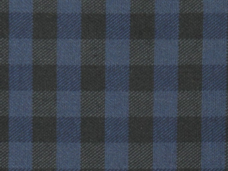Black and Navy Check Pocket Square 2