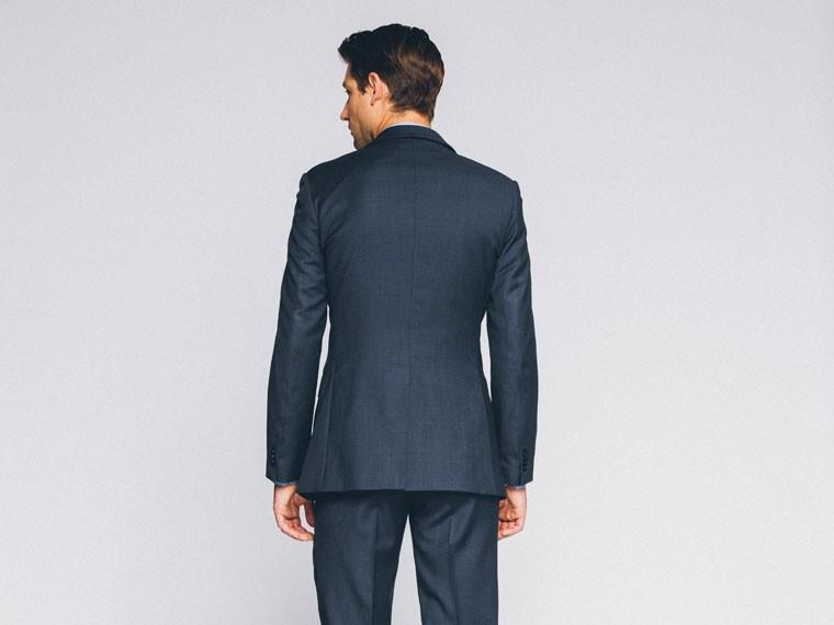 Essential Blue Sharkskin Suit 2