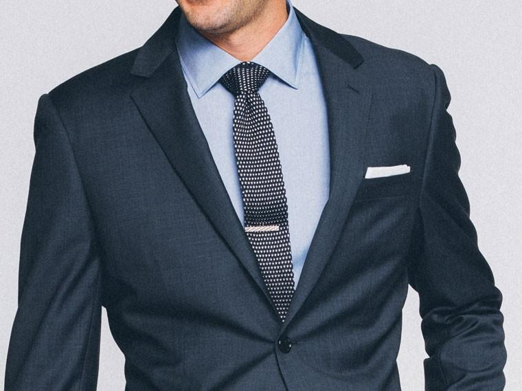 Essential Blue Sharkskin Suit 1
