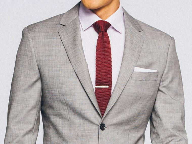 Essential Gray Sharkskin Suit 1