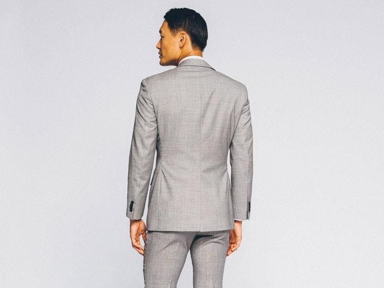 Essential Gray Sharkskin Suit 2
