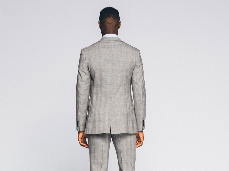 Essential Gray Prince of Wales Suit 2