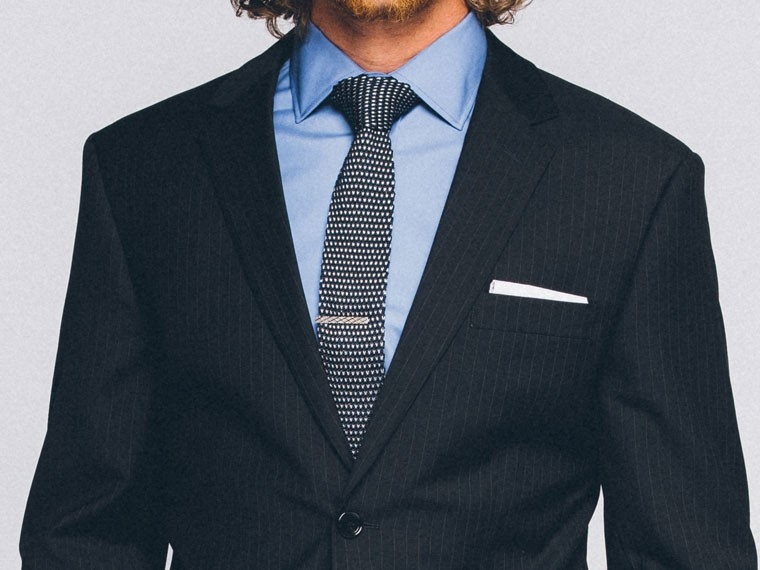 Essential Navy Pinstripe Suit 1