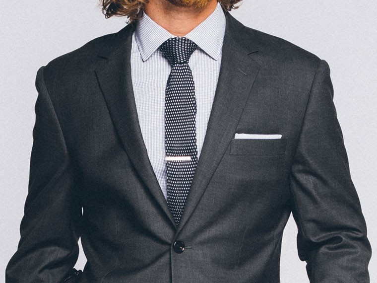 Men's Custom Suits - Premium Charcoal Gray Suit | INDOCHINO