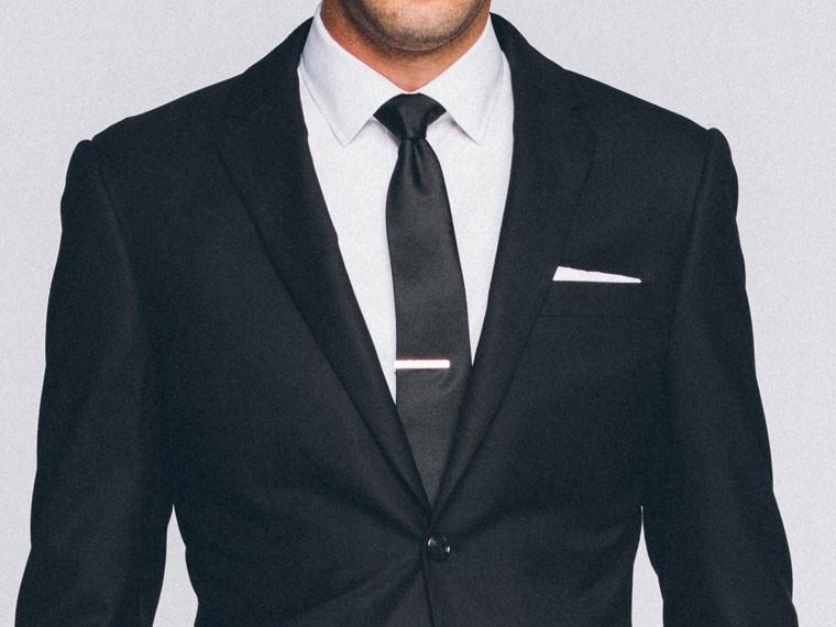 Men's Custom Suits - Premium Black Suit | INDOCHINO