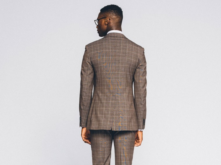 Brown Prince of Wales Suit 2