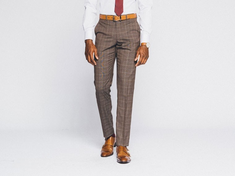Brown Prince of Wales Suit 3