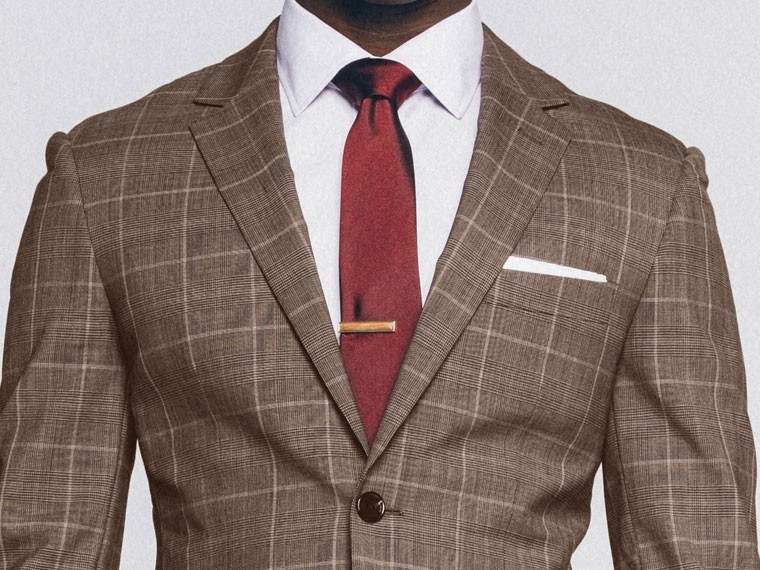 Brown Prince of Wales Suit 1