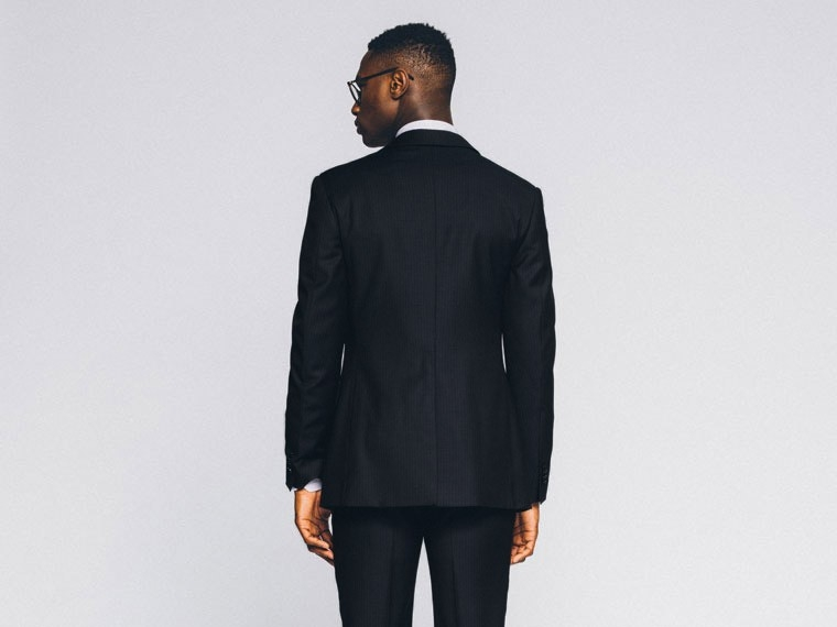 Midnight Stripe Twill Suit 2