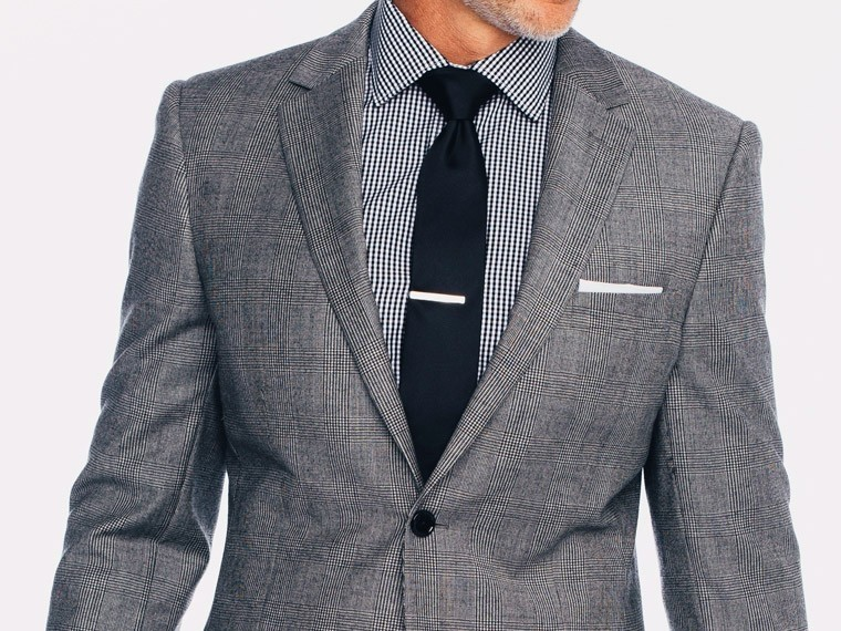 Black and White Prince of Wales Suit 1