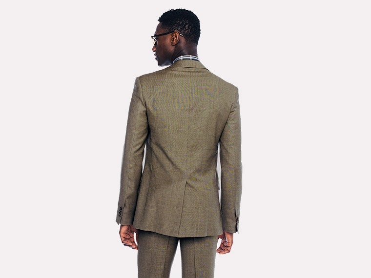 Brown Micro Houndstooth Suit