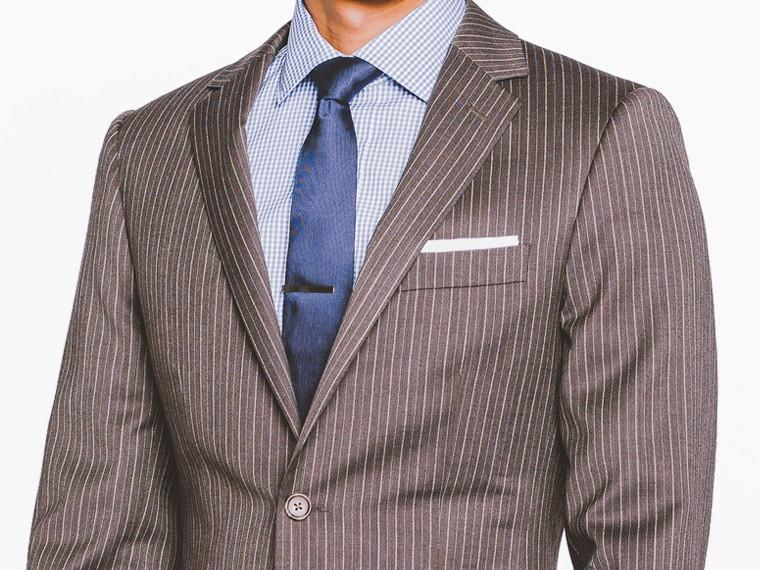 footwear exquisite design many styles Brown Double Pinstripe Suit