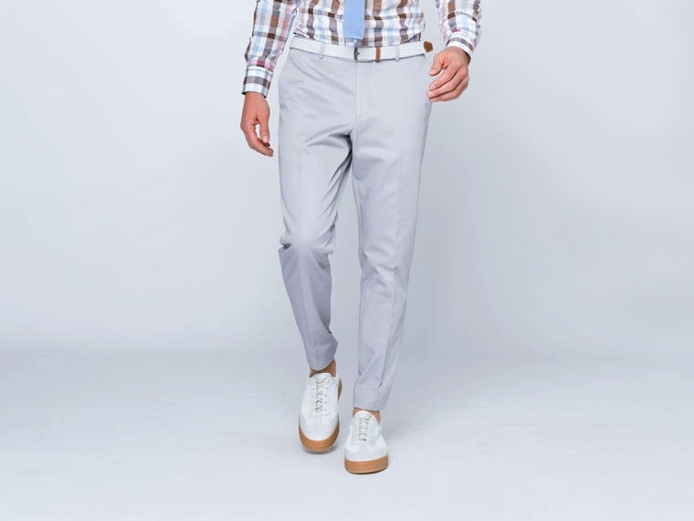 Pearl Gray Cotton Suit 3