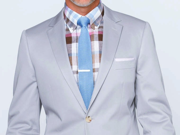 Pearl Gray Cotton Suit 1
