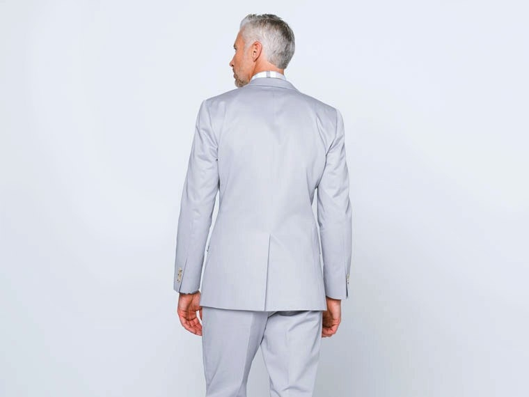 Pearl Gray Cotton Suit 2