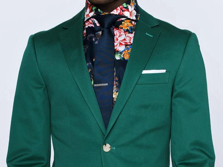 Emerald Green Cotton Suit 1