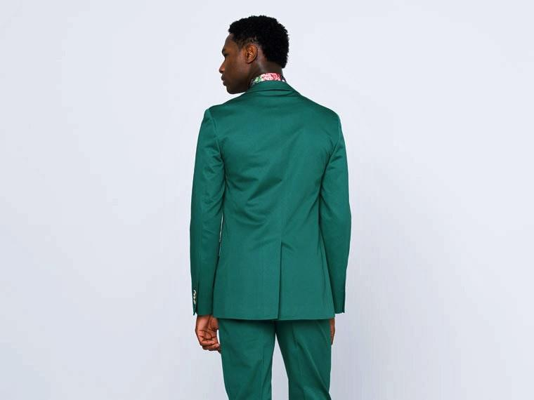 Emerald Green Cotton Suit 2