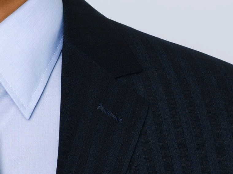 Luxury Indigo Stripe Suit 5