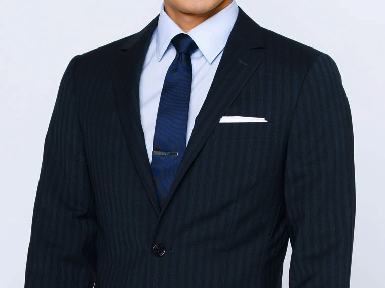 Luxury Indigo Stripe Suit 1