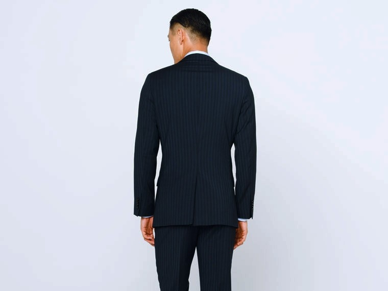 Luxury Indigo Stripe Suit 2