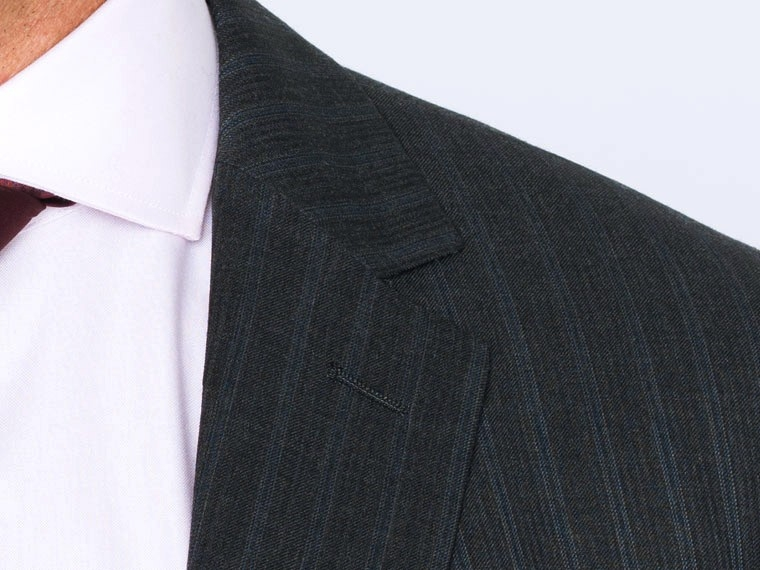 Charcoal Double Pinstripe Suit 5