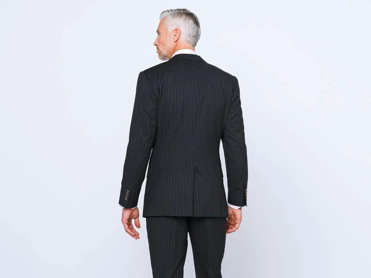 Charcoal Double Pinstripe Suit 2