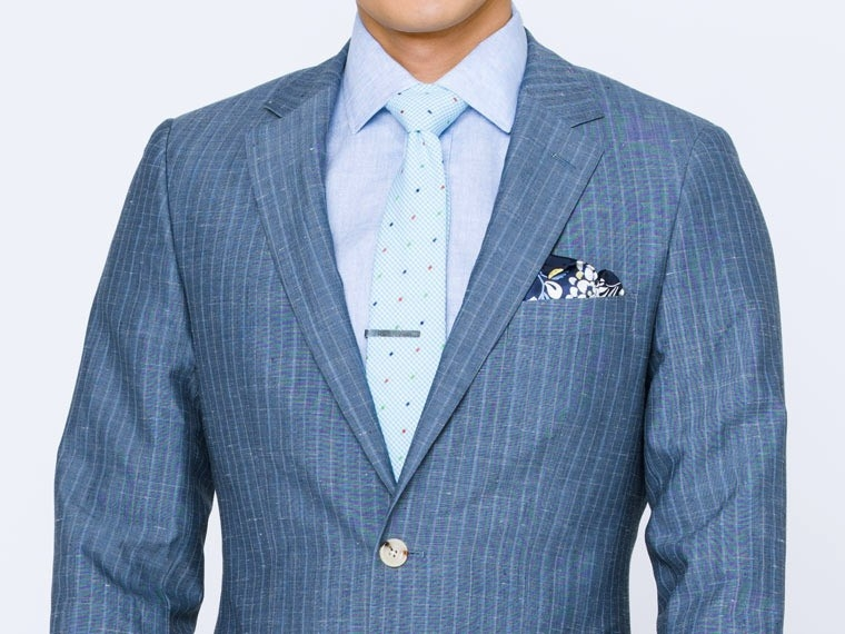 Washed Indigo Pinstripe Suit 1